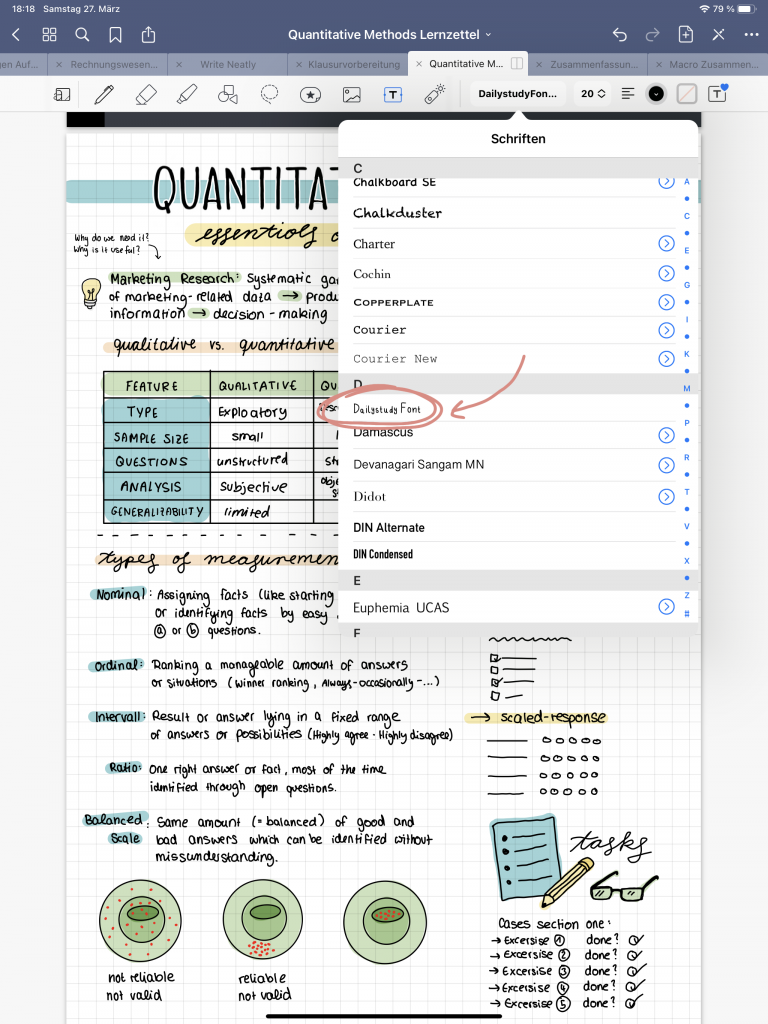 How to add new Fonts to GoodNotes