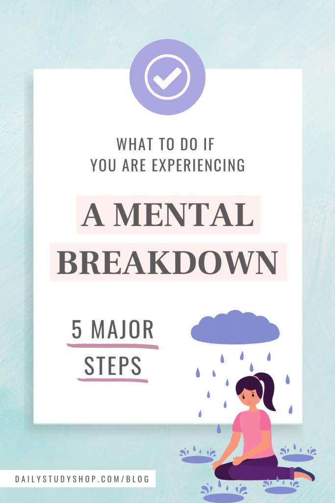 Mental Breakdown tips